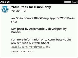 WordPress For BlackBerry Updates To v1.1 Adding New Features And Better Touchscreen Support