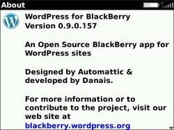 WordPress For BlackBerry Updated To v0.9.0.157