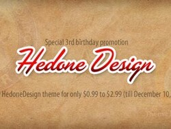 HedoneDesign celebrates their 3rd birthday with a huge theme sale!