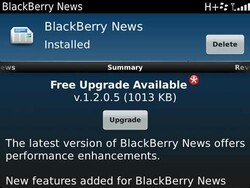 BlackBerry News gets an update to v1.2.0.5 - adds WiFi support