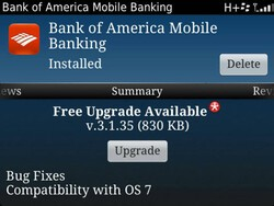 Bank of America Mobile Banking app updated for BlackBerry 7 devices