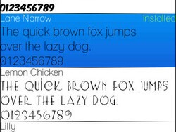FontCollection v1.6 by Almoko - Customize your BlackBerry with different fonts!