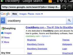 Google improves Mobile Search for BlackBerry 6.0 smartphones