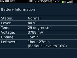 My BB Bat - A free app that indicates estimated battery residual time