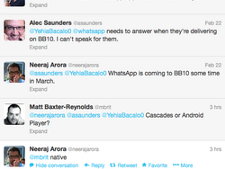 Neeraj Arora confirms Whatsapp coming to BlackBerry 10 in March as a native app!