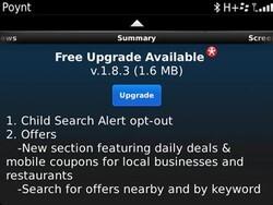 Poynt for BlackBerry updated to v1.8.3