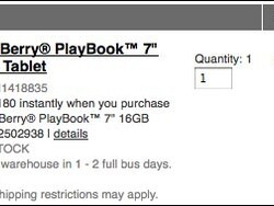 Radio Shack now offering the BlackBerry PlayBook on sale for $299