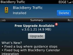 BlackBerry Traffic updated to v3.0.1.21
