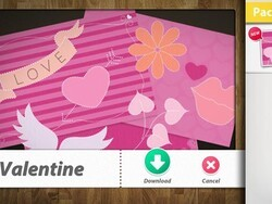 Valentine's Day theme pack now available in Scrapbook for the BlackBerry PlayBook
