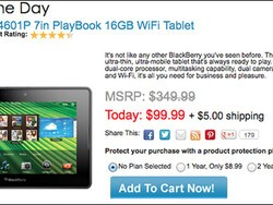 Snatch a pre-owned BlackBerry PlayBook for $99 today only on CowBoom