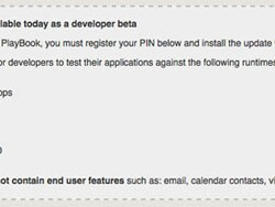 PlayBook OS 2.0 developer beta available today