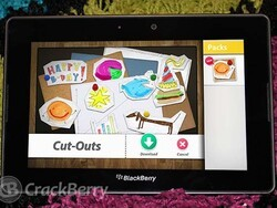 New Cut-Outs pack added to Scrapbook on the BlackBerry PlayBook