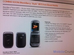 BlackBerry Style 9670 coming to Boost Mobile