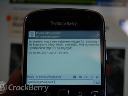 Three UK release BlackBerry 7.1 for the BlackBerry 9900, 9360 and 9810