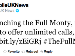 T-Mobile UK offers customers unlimited data bundle