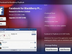 Facebook for PlayBook updates to version 2.0.0.987