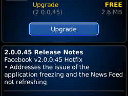 Facebook for BlackBerry receives an update to fix timeline refresh issues and application freezes