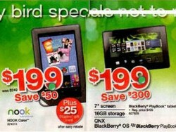 Staples' Black Friday ad points to $199 price point for the BlackBerry PlayBook