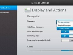 How to enable / disable threaded emails on BlackBerry PlayBook OS 2.0