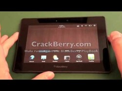 Hulu running on the BlackBerry PlayBook browser