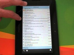 Hands on with the native email app in PlayBook OS 2.1 - Portrait style