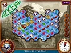 Enter the magical world of Azkend with a cool twist on tile matching games