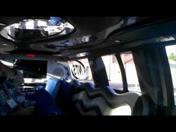 A ride in the BlackBerry Limo at CES!