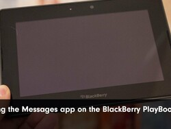 First Look: Using the Messages application on BlackBerry PlayBook 2.0