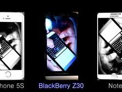 Speaker Battle: iPhone 5s vs BlackBerry Z30 vs Galaxy Note 3