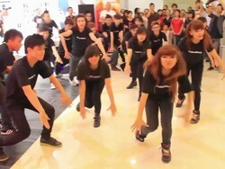 Staff at the BlackBerry Lifestyle Store Vietnam get their dance on