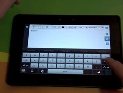 Using the New Keyboard with Predictive Text on the BlackBerry PlayBook