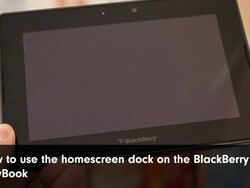 How to use the home screen dock on BlackBerry PlayBook 2.0