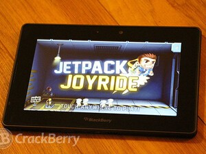 Jetpack Joyride for the BlackBerry PlayBook now available for free!