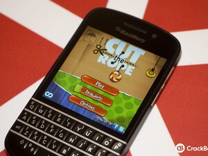 Cut The Rope updated with BlackBerry Q10 support