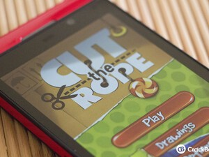 Cut The Rope updated with support for the BlackBerry Z10
