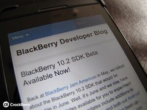 BlackBerry 10.2 SDK now available for developers