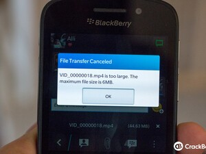 How am I supposed to send a video on BlackBerry 10?