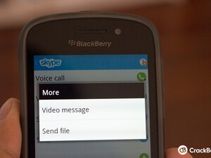 How to send a Skype video message on BlackBerry 10