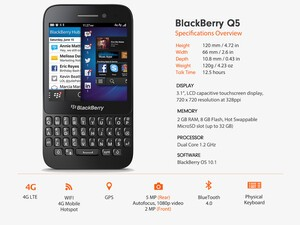 BlackBerry Q5 pricing for TELUS, Bell and Virgin