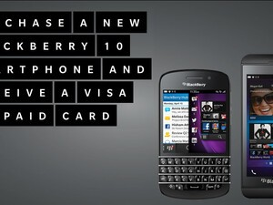 Buy a BlackBerry 10 smartphone and get a $60 VISA Prepaid Card