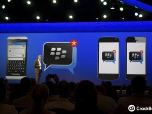 BBM for Android and iPhone landing pages surface