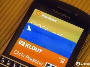 Does BlackBerry need an app like Passbook on iOS for BlackBerry 10?