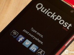 Quick Post - Type once, post everywhere app now available on BlackBerry 10