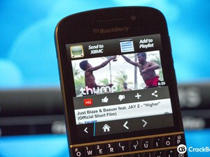 Send YouTube videos to XBMC using your BlackBerry 10 smartphone
