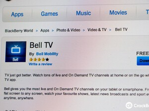 Bell TV app comes to BlackBerry 10