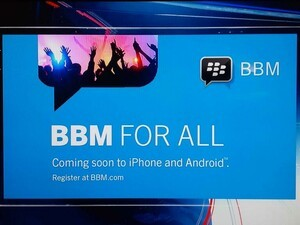 Did you catch the BBM FOR ALL ad during The Amazing Race?