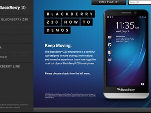 BlackBerry Z30 help and how-to demo site now live