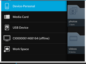 BlackBerry Z30 supports USB On-The-Go