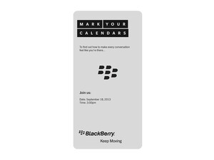 BlackBerry holding mystery event on Sept. 18th in Malaysia
