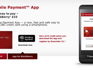 NFC powered CIBC Mobile Payment App now ready for the BlackBerry Z10